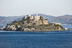 Gefängnisinsel von Alcatraz in San Francisco, Kalifornien stockfotos