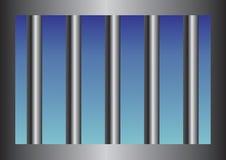 Gefängnisstäbe stock abbildung
