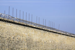 Gefängniswand. Lizenzfreies Stockbild