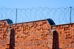 Gefängniswand lizenzfreie stockfotos