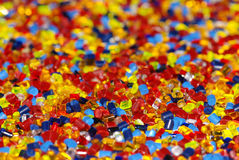 Gefärbter Plastik granuliert Lizenzfreie Stockfotografie