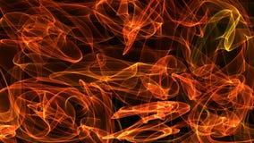 Gefühl der Illustration 3D der Bewegung im Raum, in der Energie, in den Farben und in den Formen Stockbilder