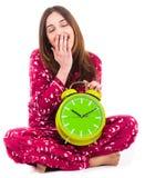 Gefühl der jungen Frau schläfrig Lizenzfreies Stockfoto