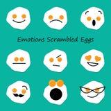 Gefühl-durcheinandergemischte Eier lizenzfreie abbildung