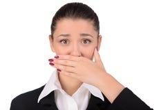 Gefühl-Geschäftsfrau lizenzfreie stockfotos