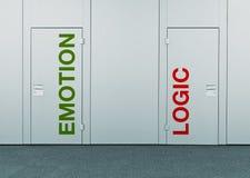Gefühl oder Logik, Konzept der Wahl lizenzfreie stockbilder
