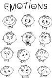 Gefühle der Kinder Stockfoto