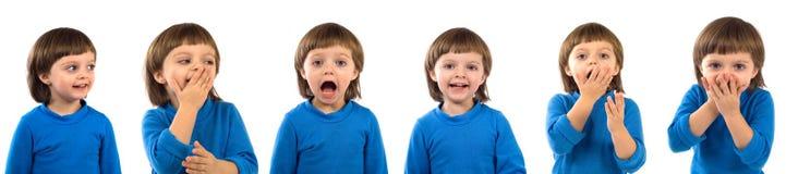 Gefühle des Kindes stockfotografie