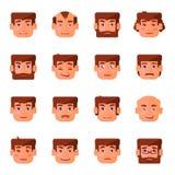 9 Gefühle des Mannes eingestellt Lizenzfreies Stockfoto