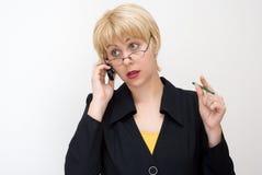 Gefühle und Gewohnheiten der Geschäftsfrau lizenzfreie stockbilder
