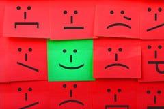 Gefühlkonzept Hintergrund von klebrigen Anmerkungen Lizenzfreies Stockfoto