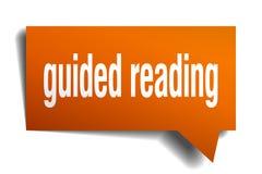 Geführt, orange Blase der Sprache lesend 3d lizenzfreie abbildung