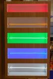 Geführte helle Streifen Stockfoto