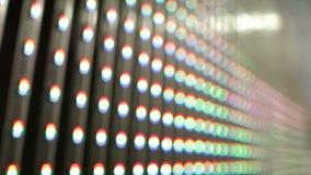 Geführte Lichter auf Vorhang stock video