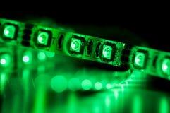 Geführte Neonbeleuchtung, grüne Farbe Lizenzfreies Stockfoto