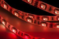 Geführte Neonbeleuchtung rgb, rote Farbe lizenzfreie stockfotos