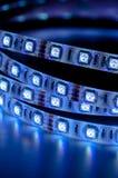 Geführte Streifen rgb-Lichter, blauer Farbabschluß oben Lizenzfreies Stockbild