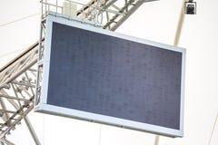 Geführter Schirm installiert auf das Stadion Lizenzfreies Stockbild