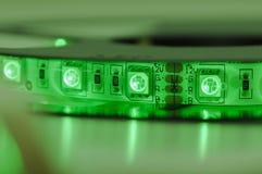 Geführter Streifen rgb, grüne Farbe lizenzfreie stockfotos