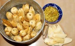 Gefüllte Maismehltaschen, mexikanisches Lebensmittel für Candlarias-Tag Stockbild