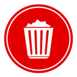 Gefüllte Papierkorbikone Lizenzfreies Stockfoto