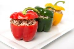 Gefüllter Gemüsepaprika lizenzfreies stockfoto