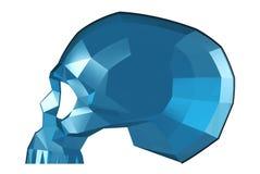 Gefacetteerde Glasschedel Royalty-vrije Stock Afbeelding