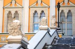Gefacetteerde Kamer Moskou het Kremlin De Plaats van de Erfenis van de Wereld van Unesco Stock Fotografie
