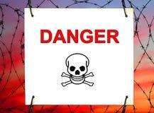 Gefahr! lizenzfreie stockfotos