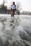 Gefahr auf dem Eis Lizenzfreie Stockfotografie