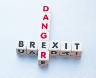 Gefahr Brexit stockfotos
