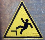 Gefahr des Fallens Stockfoto