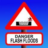 Gefahr des grellen Überschwemmungzeichens stock abbildung