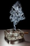 Gefahr des Rauchens Stockfotografie