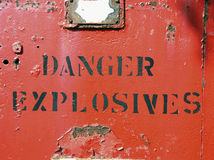 Gefahr - Explosivstoffe stockbilder