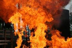 Gefahr - Feuer Stockfoto