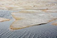 Gefahr gefrorenes Meer Stockfoto