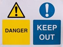 Gefahr halten ab stockfotos