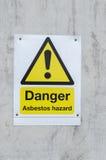 Gefahr halten Zeichen ab Lizenzfreie Stockbilder