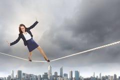 Gefahr im Geschäft Lizenzfreie Stockbilder