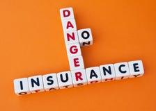 Gefahr keine Versicherung Lizenzfreies Stockbild