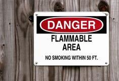 Gefahr - rauchen Sie nicht - stockbild