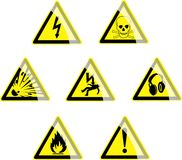 Gefahr-Symbole Lizenzfreies Stockbild