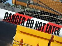Gefahr tragen nicht Zeichen ein Lizenzfreie Stockbilder