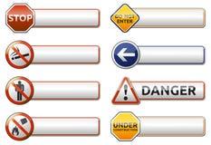 Gefahr, Verbotszeichenfahnensammlung Lizenzfreie Stockfotos