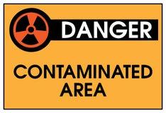 Gefahr verschmutzte Bereich Stockbild