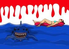 Gefahr von den Haifischen Stockfotos