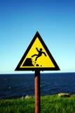 Gefahr voran Stockfotos