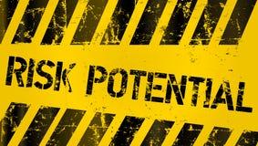 Gefahr, Warnzeichen des Risikos, getragen und grungy Lizenzfreie Stockfotos