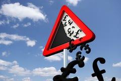 Gefahren-fallende Preise Stockfotografie